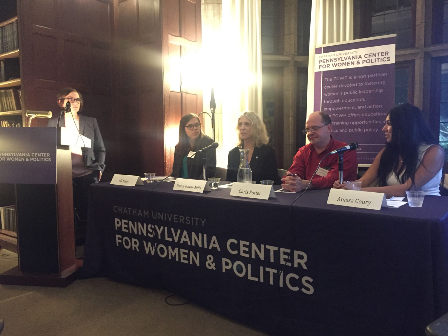 Pennsylvania Democratic chairwoman Dr. Nancy Patton Mills speaks at an election analysis panel hosted by Chatham University's Pennsylvania Center for Women and Politics.