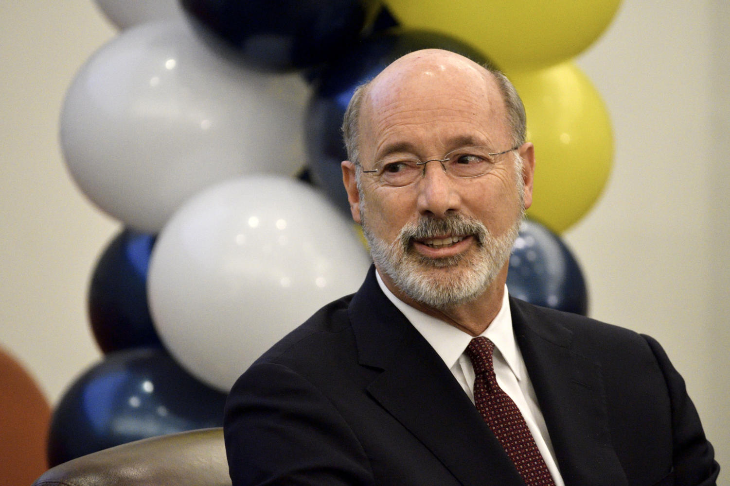Tom Wolf, Incumbent and Democratic candidate for Governor of Pennsylvania attends a student forum in Philadelphia, Pa., on Oct. 10, 2018.  (Bastiaan Slabbers/NurPhoto/Zuma Press/TNS)
