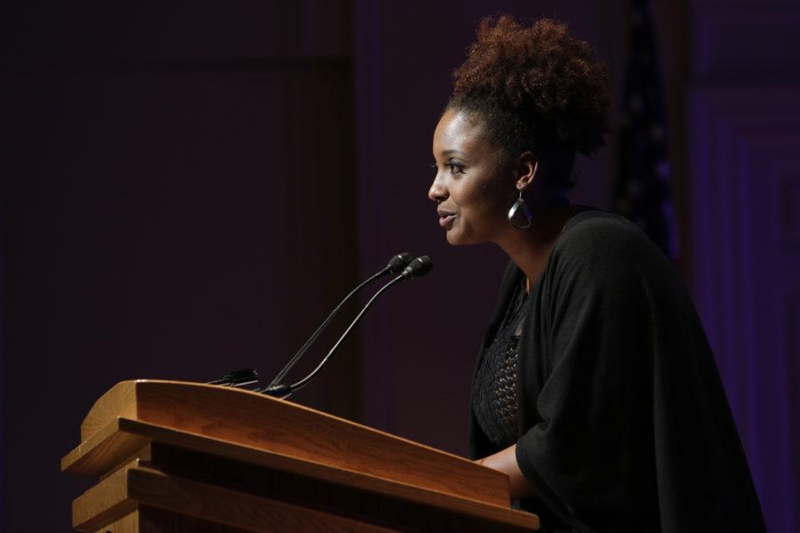 Poet Laureate Tracy K. Smith speaks in Oakland