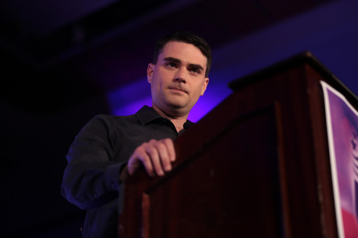 Ben Shapiro speaks at the 2018 Young Women's Leadership Summit hosted by Turning Point USA in Dallas.