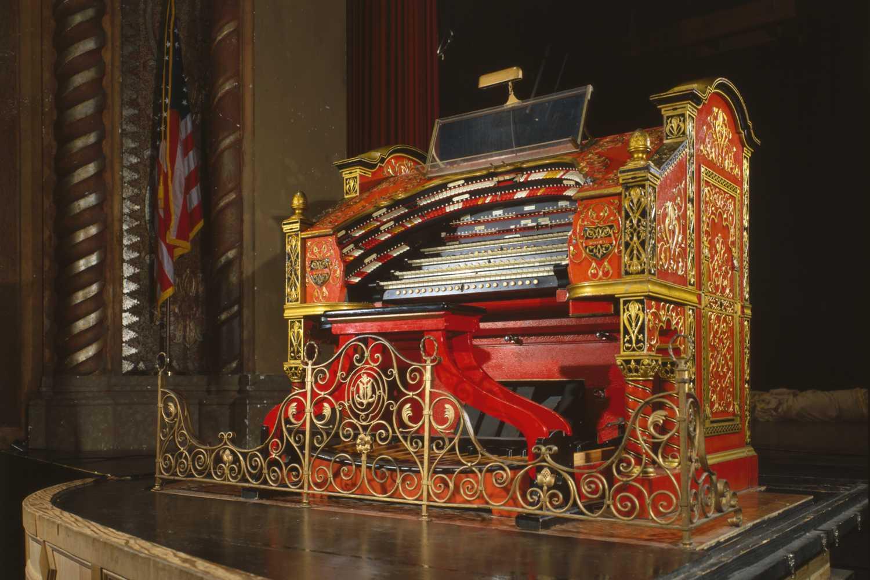 A Wurlitzer theater organ.