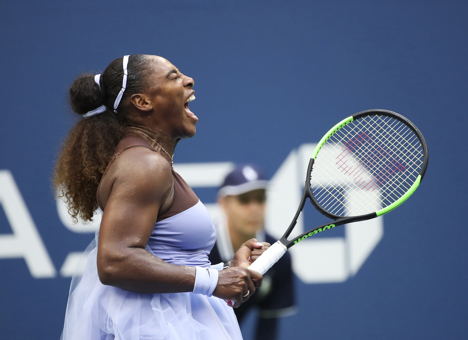 Serena Williams celebrates during her women's singles fourth-round victory against Kaia Kanepi at the 2018 U.S. Open on Sunday, Sept. 2, in Flushing Meadows, New York.