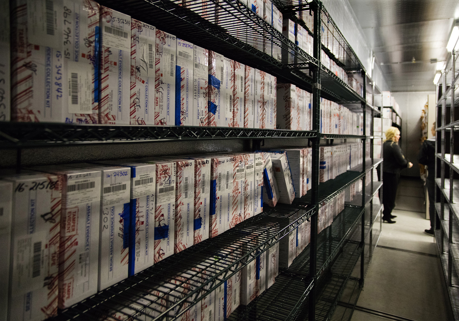 Hundreds of untested rape kits are stored at the Seattle Police Department's evidence warehouse.