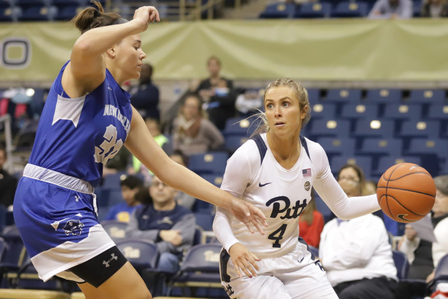 Senior guard Cassidy Walsh (4) led the offense by scoring 21 points during Pitt's 90-38 victory over UCF