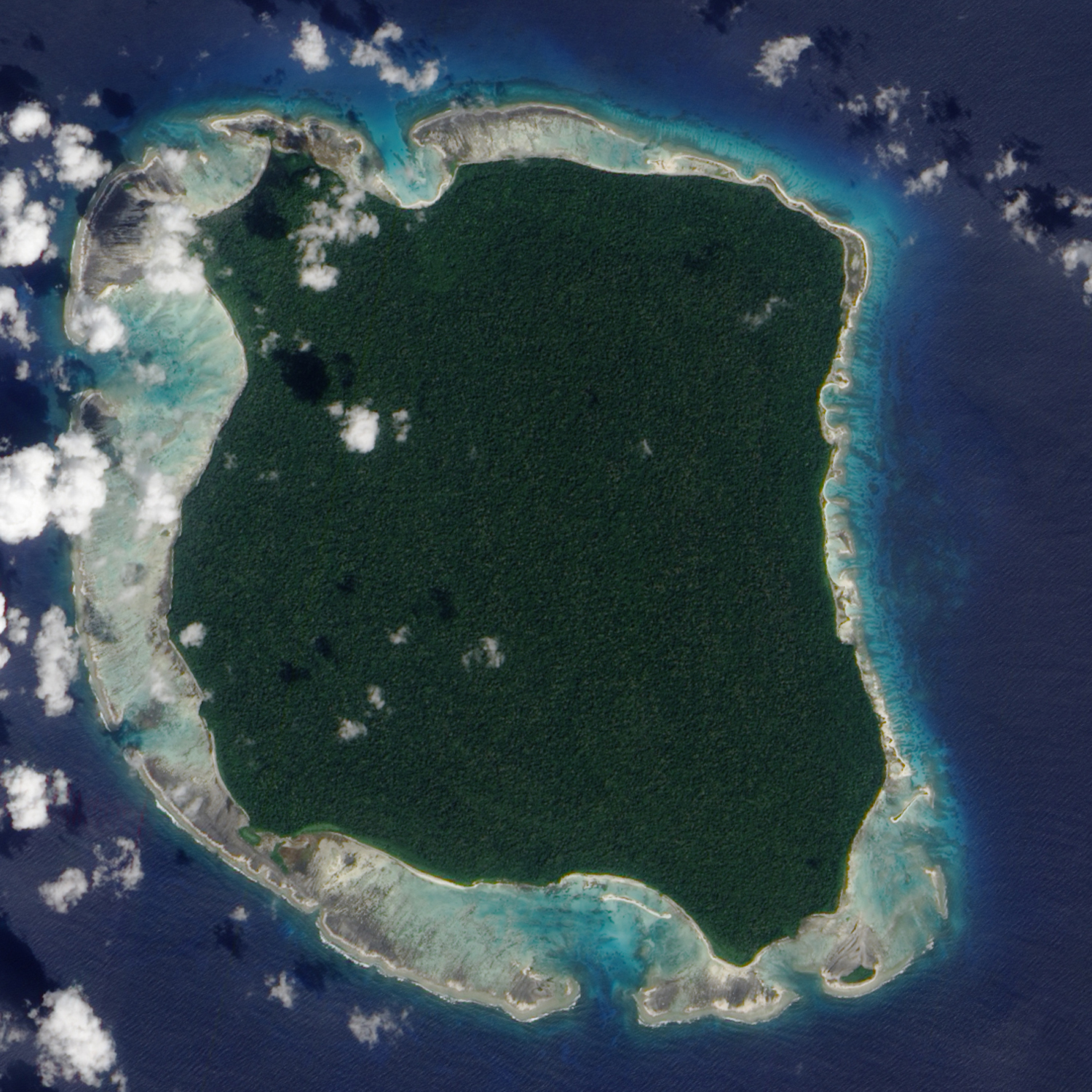 The Indian government monitors the Andaman Islands territories, including North Sentinel Island (pictured), home to the Sentinelese tribe — one of the last hunter-gatherer tribes that has little to no contact with modern civilization.
