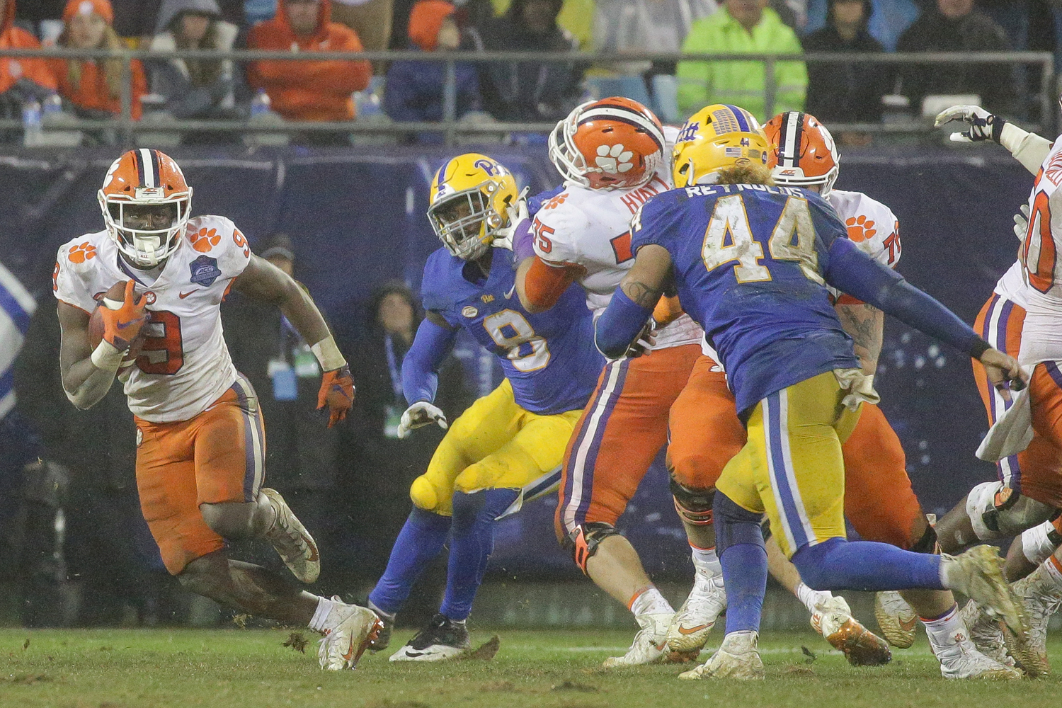 Clemson sophomore running back Travis Etienne (9) is a major contributor to the Tigers rushing offense.