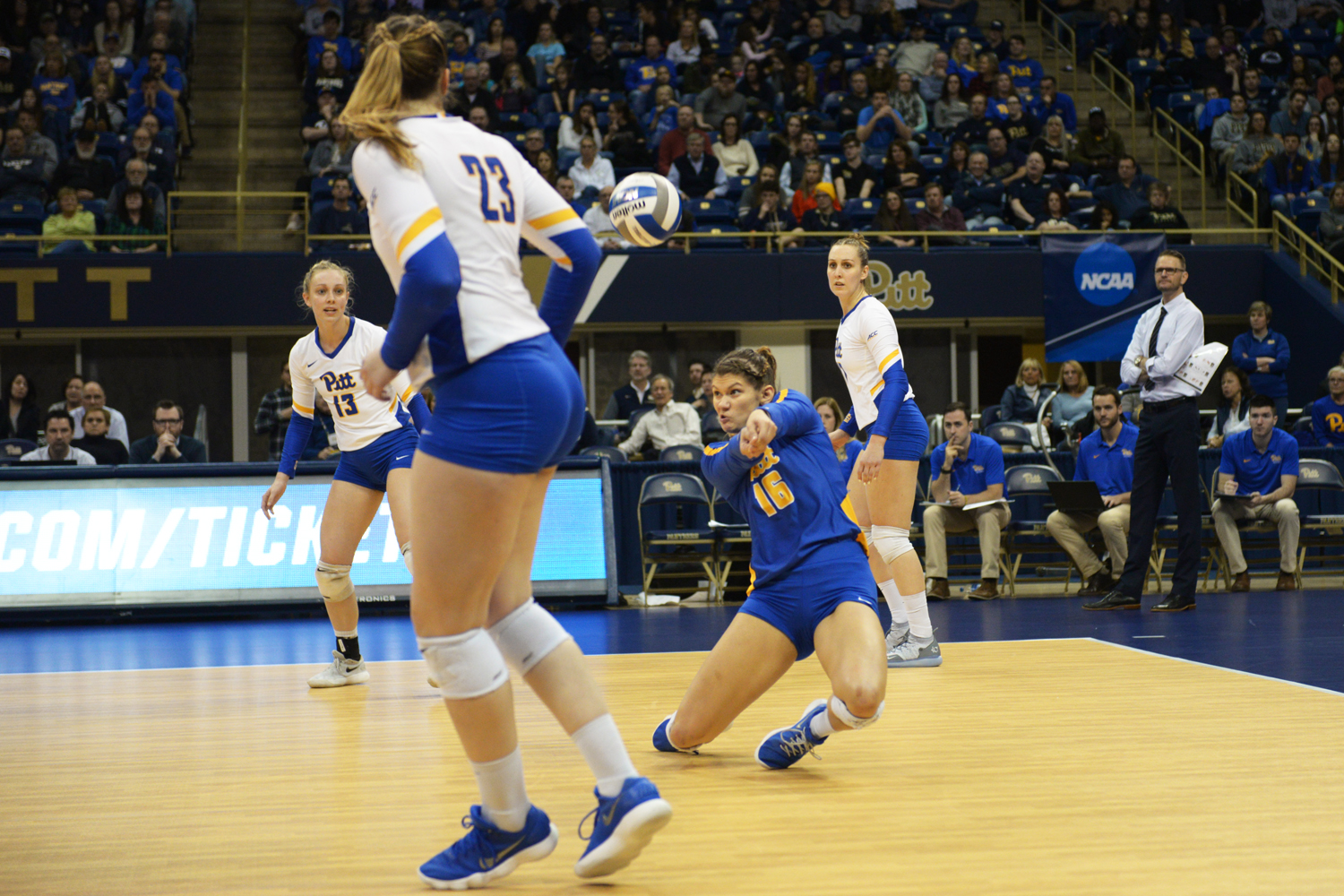 Redshirt senior Angela Seman had 11 digs during the team's win over Iona in the first round of the NCAA Tournament Friday night.