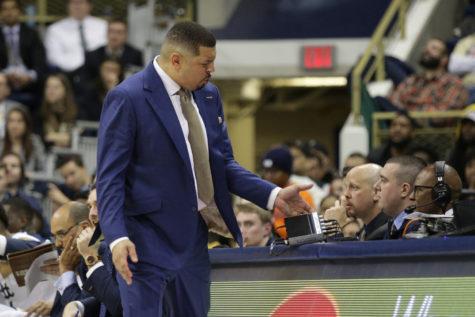 Coach Capel questions a foul.
