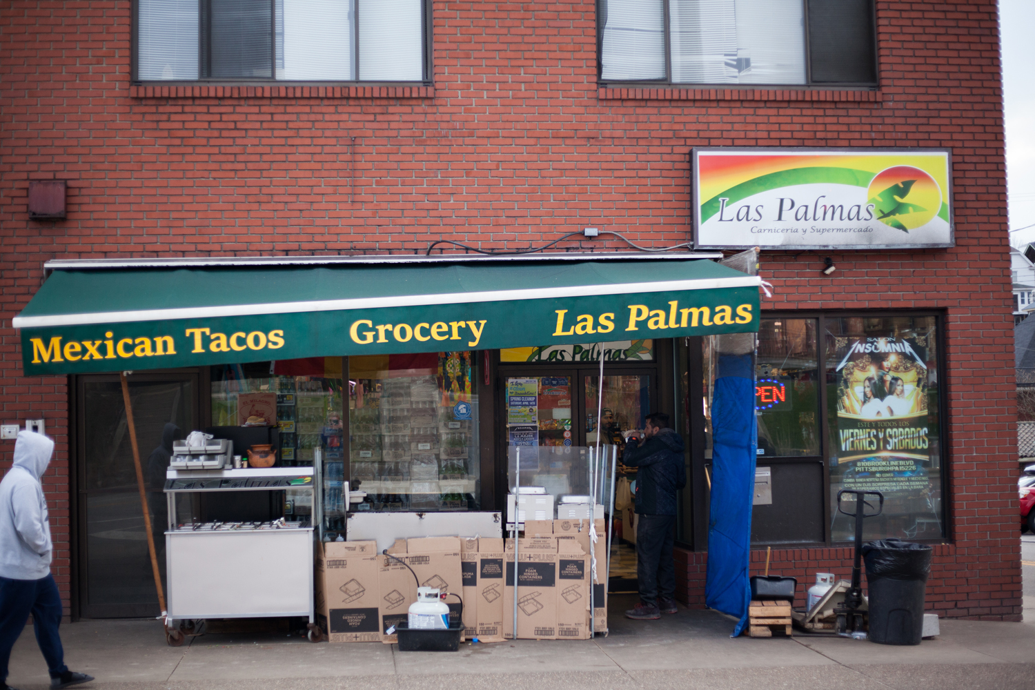 The Oakland location of Las Palmas, which has another location pictured here, been cited by the Allegheny County Health Department in its most recent inspection for the presence of live and dead roaches throughout the store.