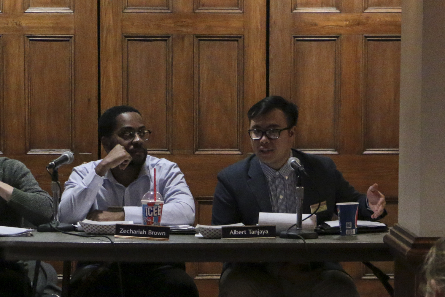 Board members Albert Tanjaya and Zechariah Brown are both running for SGB president.