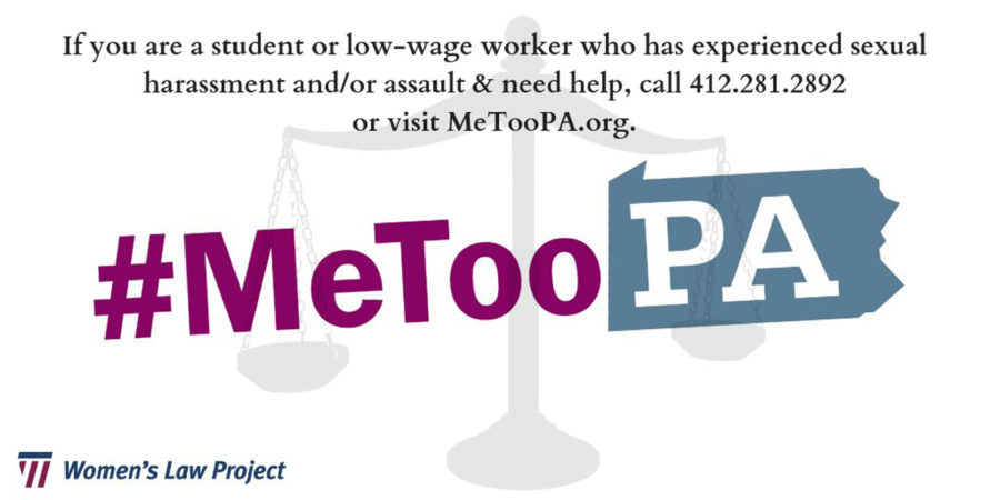 #MeTooPA is a sexual assault and harassment reporting hotline for students grades pre-K through college and low-wage workers in Pennsylvania created by the Women's Law Project.