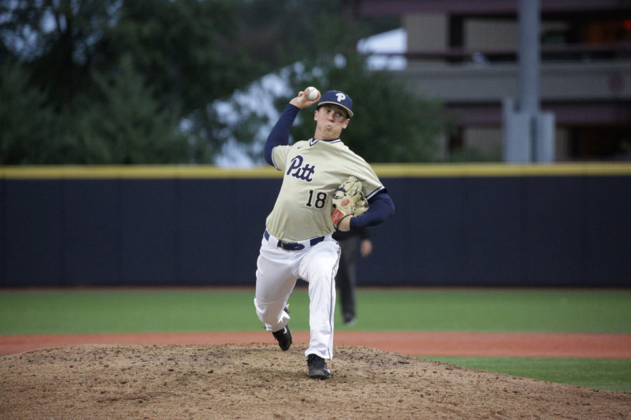 Sophomore pitcher Dan Hammer (18) pitched the second-most innings in the 2018 season.