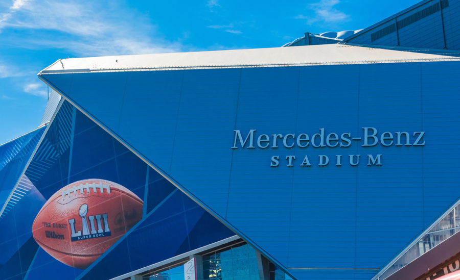 Super Bowl LIII will be played at Atlanta's Mercedes-Benz Stadium on Sunday between the New England Patriots and the Los Angeles Rams.