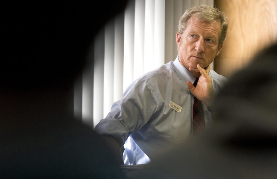 Businessman+Tom+Steyer+listens+during+an+E-Cigarette+Education+Awareness+Forum+at+McClatchy+High+School+in+Sacramento%2C+Calif.%2C+on+January+20%2C+2016.+