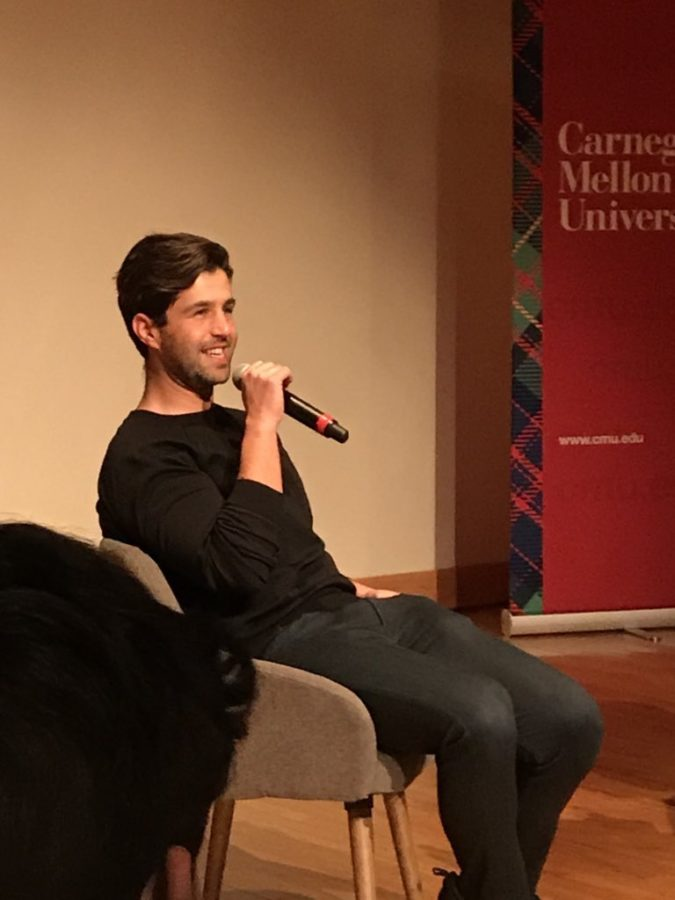 Josh+Peck+came+to+Carnegie+Mellon+University+on+Wednesday+evening+and+was+interviewed+by+Catherine+Moore%2C+one+of+CMU%E2%80%99s+drama+professors.+