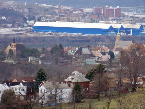View of Rankin  from the Monongahela Cemetery in Braddock Hills, Pennsylvania.