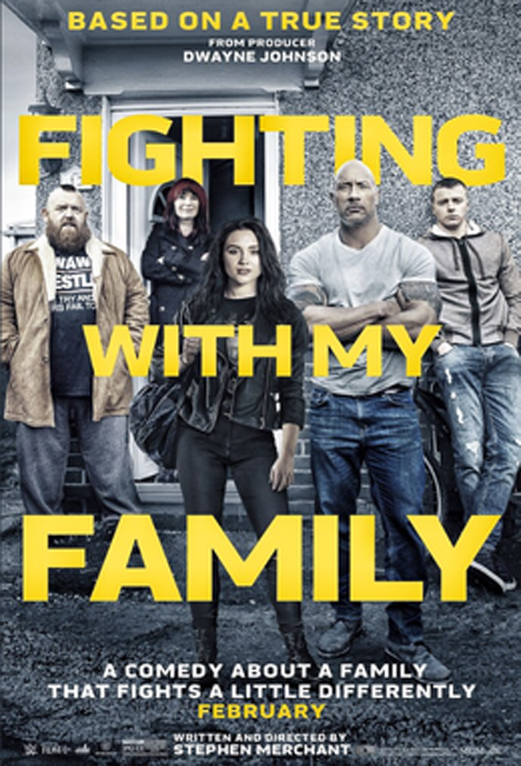 """Fighting with My Family"" release poster."