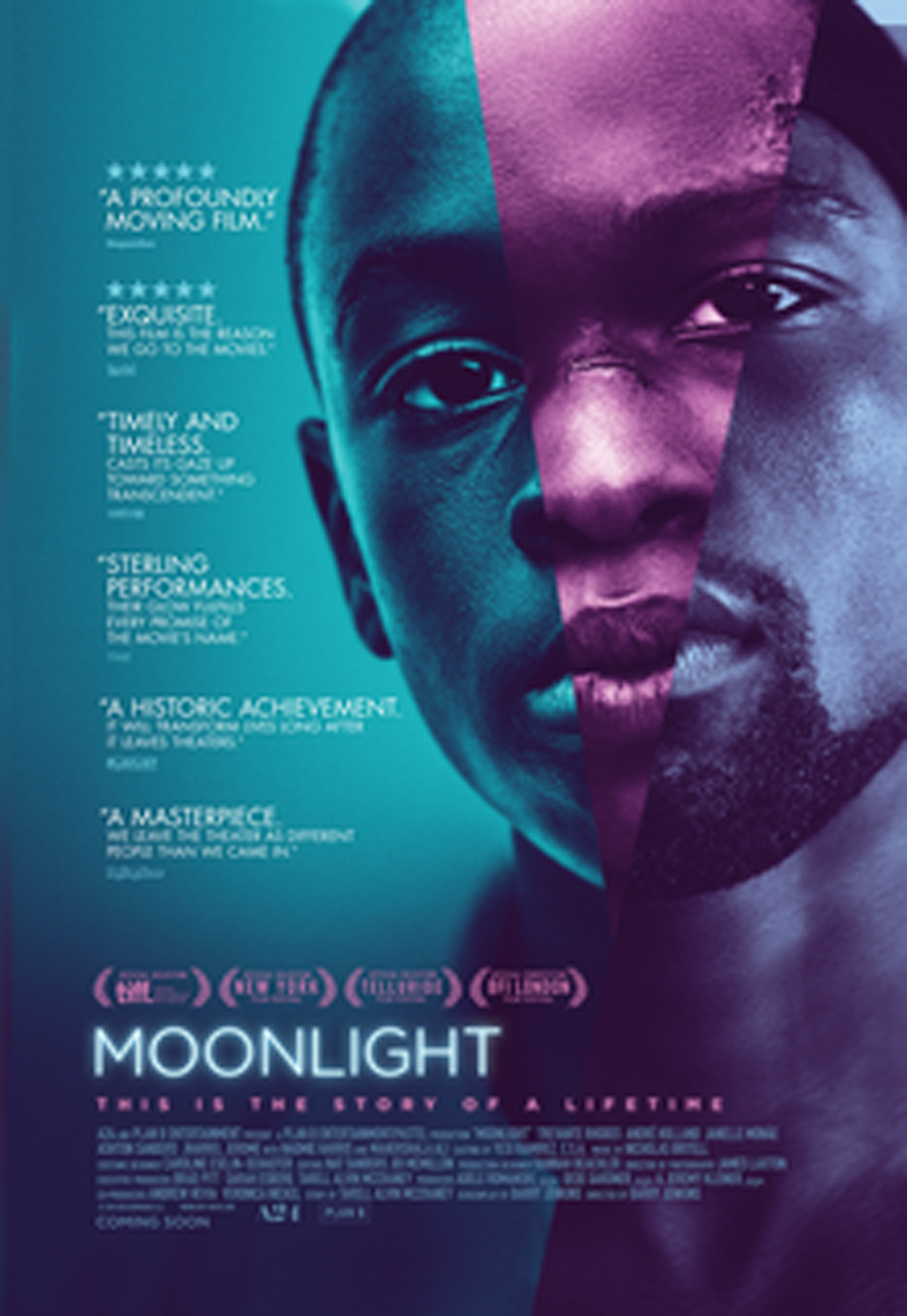 "The ""Moonlight"" theatrical release poster."
