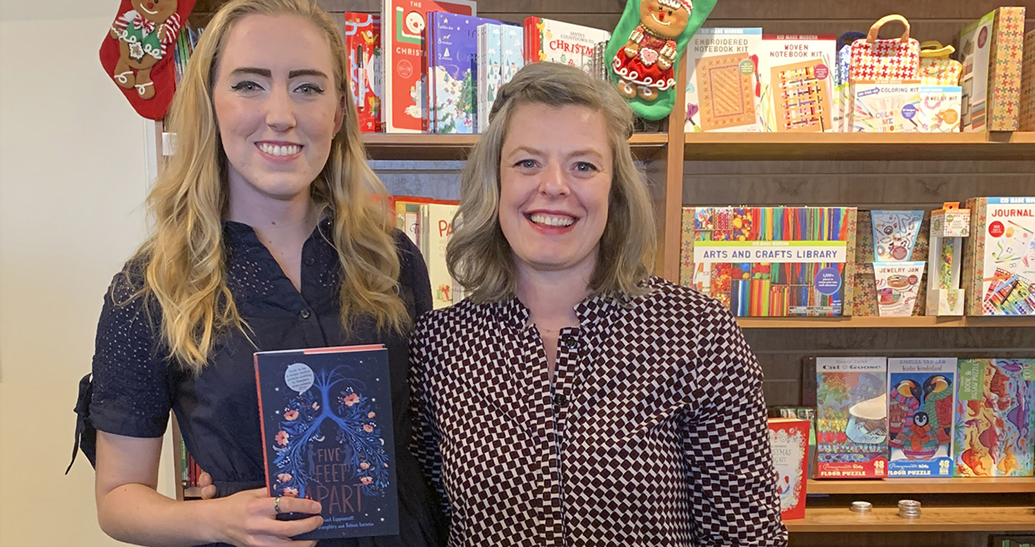 "Pitt alumna Rachael Lippincott (left) has been on The New York Times' best-seller young-adult hardcover list for the past 11 weeks because of her novel adaptation of the movie ""Five Feet Apart."""