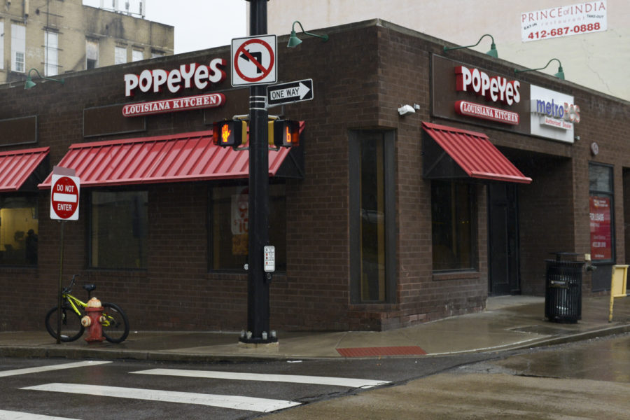 Pitt's campus Popeyes closed permanently on Monday, Feb. 11.