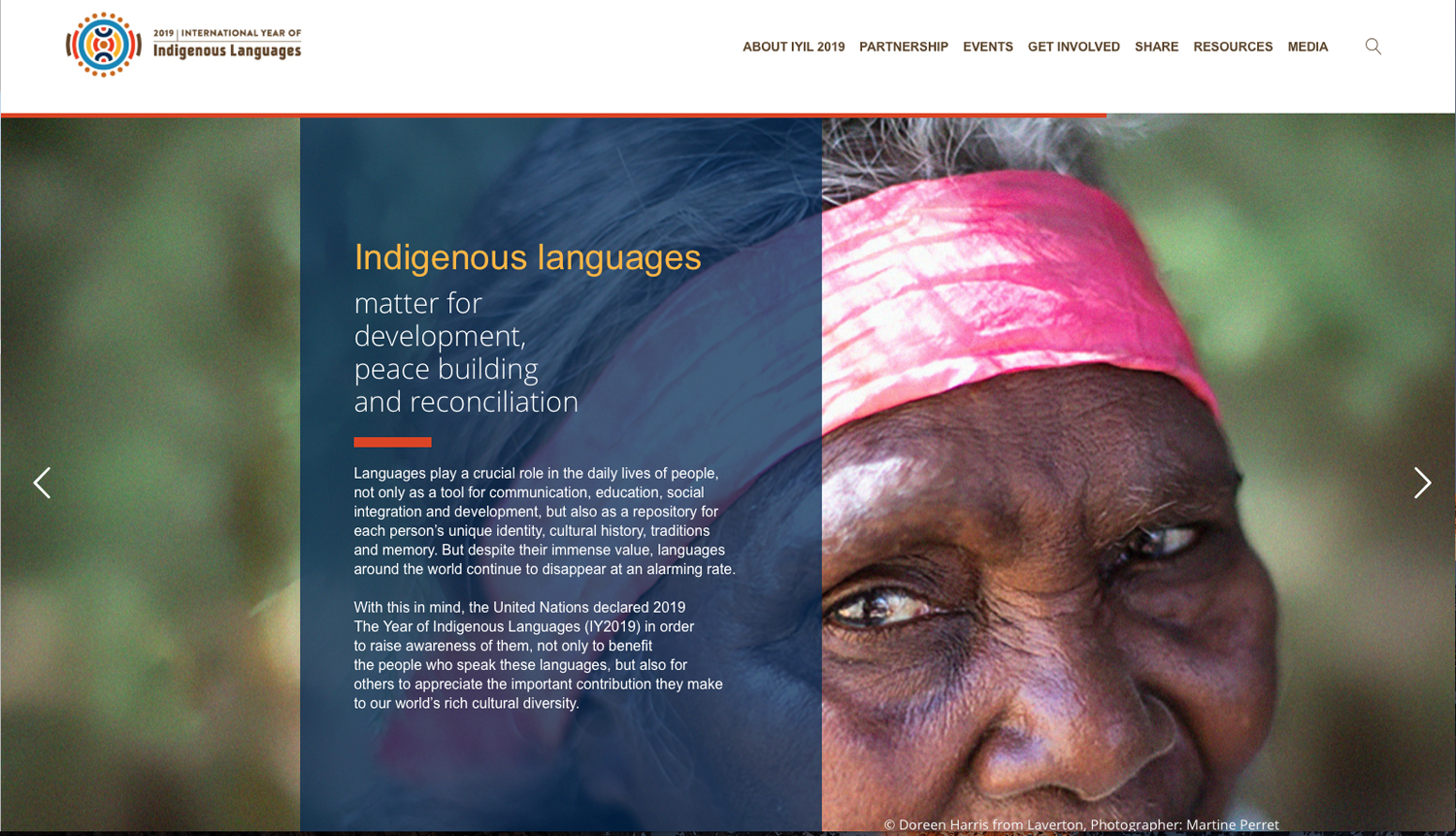 2019 has been declared the Year of Indigenous Languages by the United Nations.