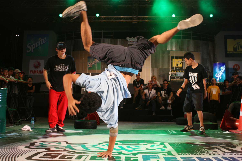 Thai break dancers.