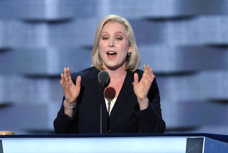 New+York+Sen.+Kirsten+Gillibrand+speaks+during+the+first+day+of+the+Democratic+National+Convention+on+July+25%2C+2016%2C+in+Philadelphia.+%0A%0A