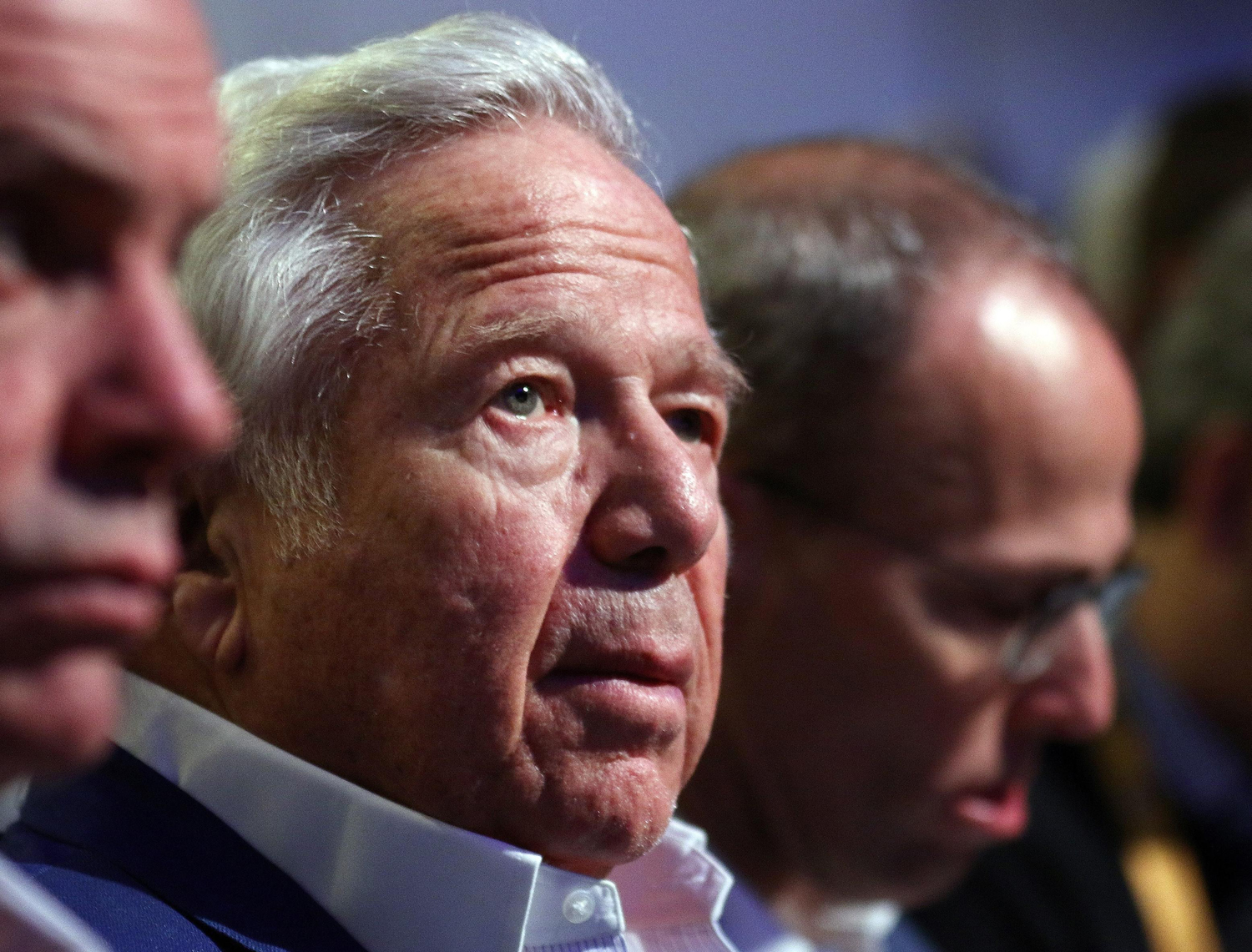 Robert Kraft was charged Friday on two counts of soliciting sex as part of a larger investigation of prostitution and suspected human trafficking in Jupiter, Florida.