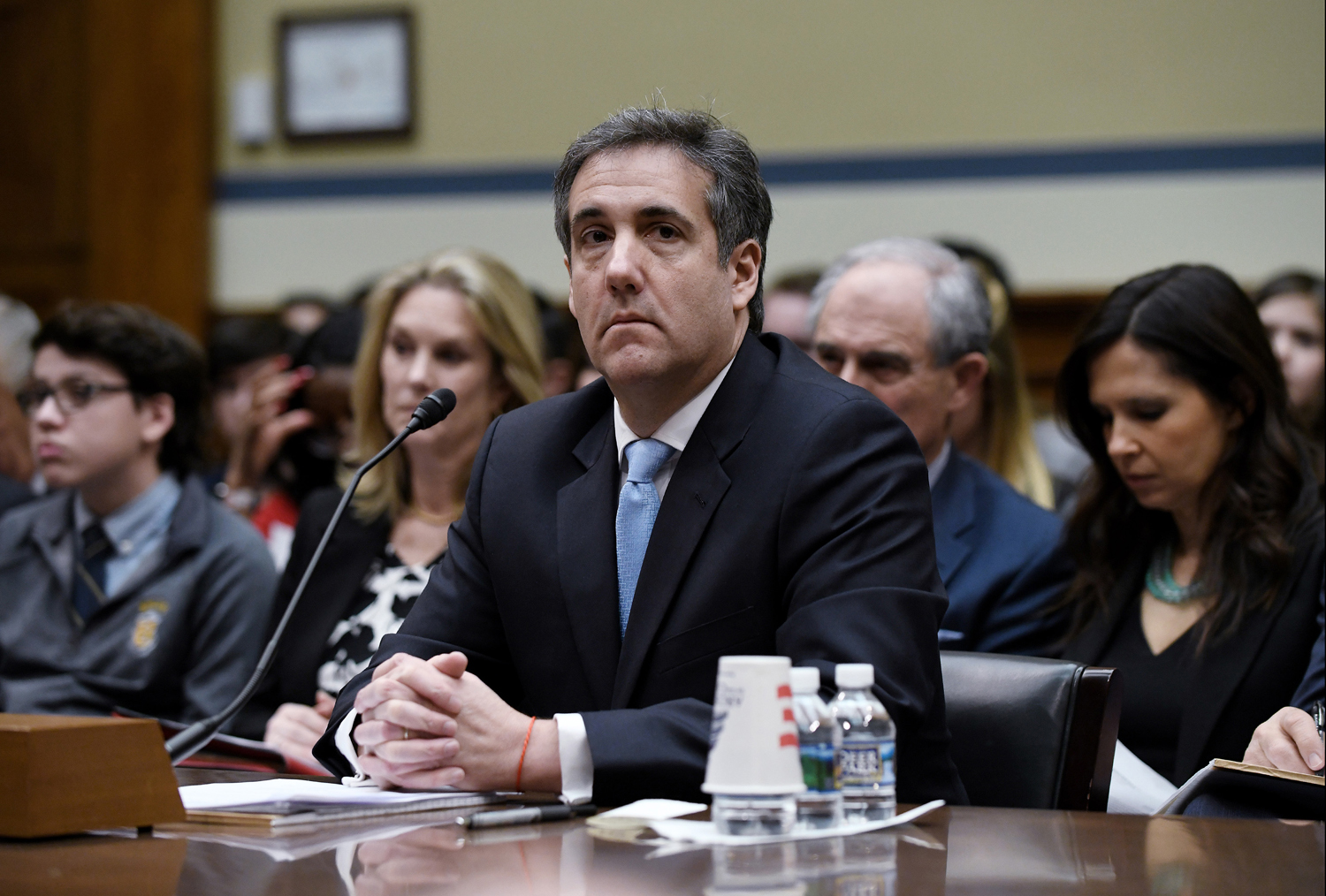 Michael Cohen, U.S. President Donald Trump's former personal attorney, testifies before the House Oversight and Reform Committee in the Rayburn House Office Building on Capitol Hill in Washington, D.C. on Wednesday, Feb. 27.