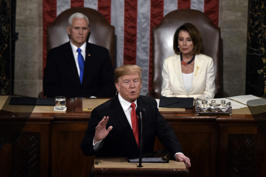 President Donald Trump delivers his State of the Union address to a joint session of the Congress on Capitol Hill in Washington, D.C., on Tuesday, Feb. 5.