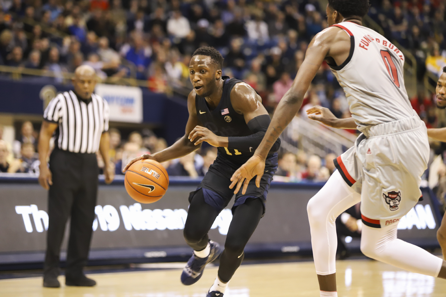 Graduate guard Sidy N'Dir led the team in assists in the Feb. 9 game against NC State., and contributed nine points against Boston College Tuesday night.