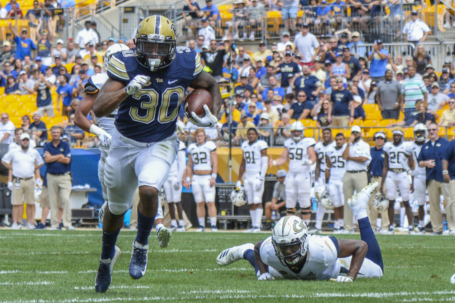 Former running back Qadree Ollison will be the only Pitt player participating in the NFL Combine this year.