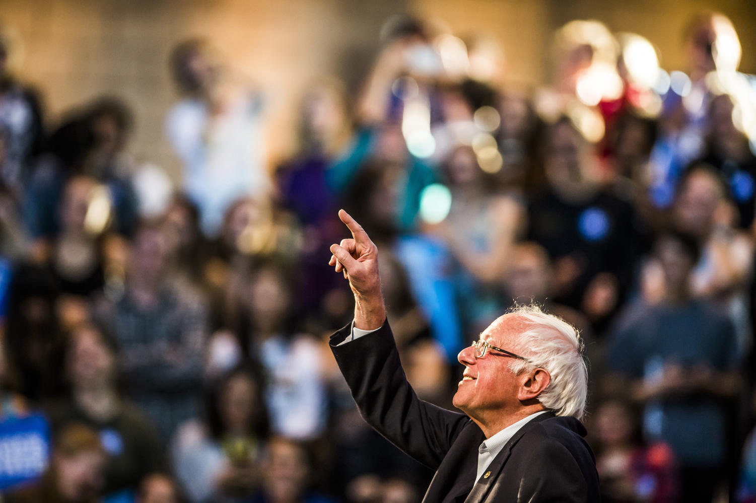 """In response to the current student debt crisis, Sanders has pushed for free tuition at public four-year colleges and universities. He wants to cut all student loan interest rates in half and allow Americans to refinance their student loans at significantly lower interest rates. He wrote on his website: """"In a highly competitive global economy, we need the best-educated workforce in the world. It is insane and counter-productive to the best interests of our country and our future, that hundreds of thousands of bright young people cannot afford to go to college, and that millions of others leave school with a mountain of debt that burdens them for decades."""""""