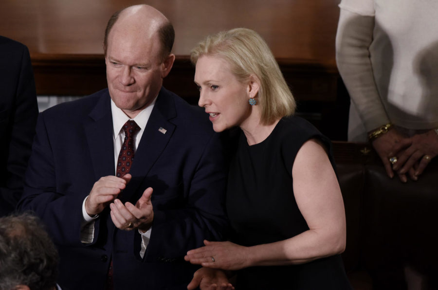 Sen.+Kirsten+Gillibrand+%28D-N.Y.%29+attends+President+Trump%27s+State+of+the+Union+address+to+a+joint+session+of+Congress+on+Capitol+Hill+in+Washington%2C+D.C.%2C+on+Tuesday%2C+Feb.+5%2C+2019.+%28Olivier+Douliery%2FAbaca+Press%2FTNS%29
