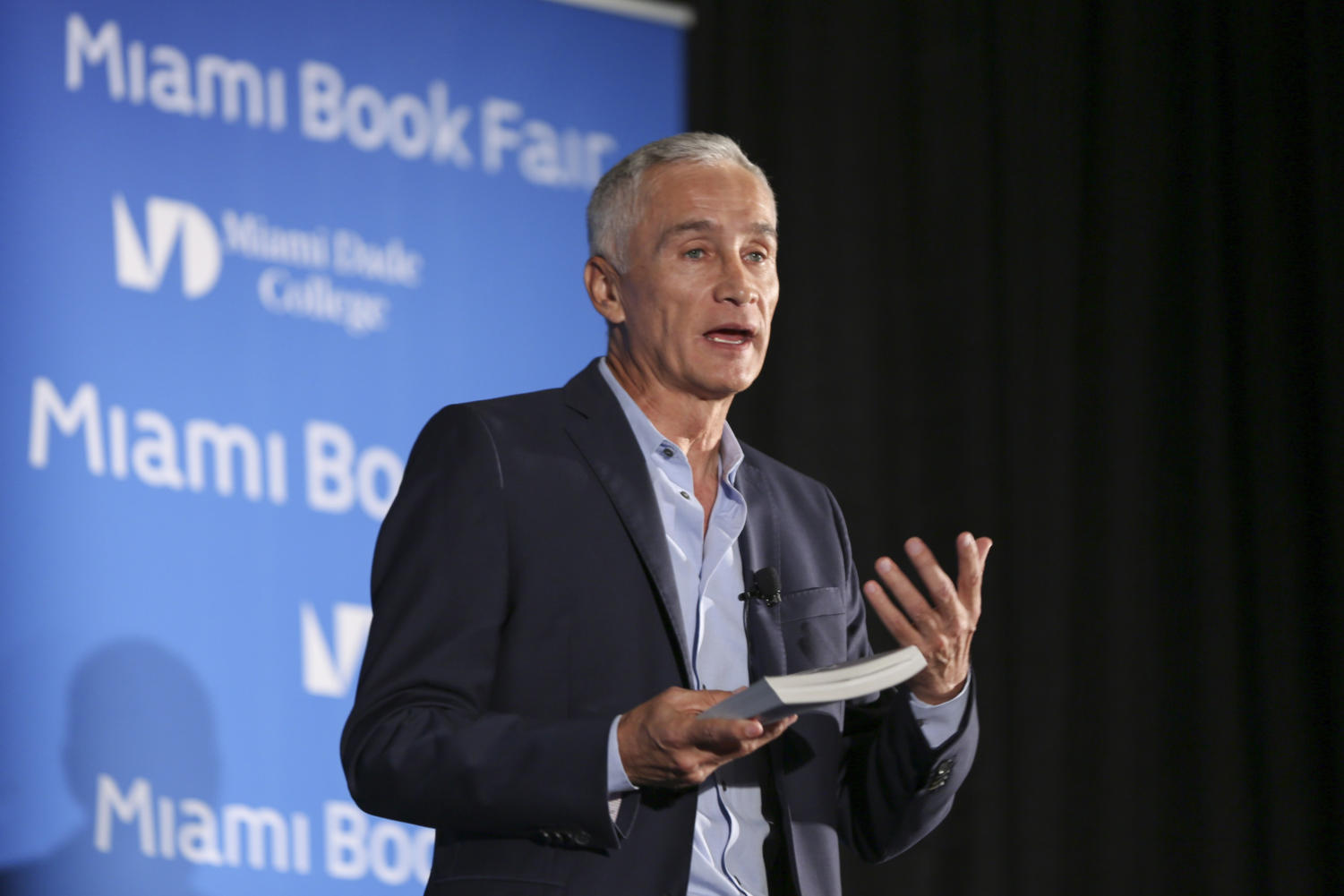 Jorge Ramos speaks on Sunday, Nov. 13, 2016 during the Miami Book Fair at the Miami Dade College Wolfson Campus in downtown Miami, Fla.