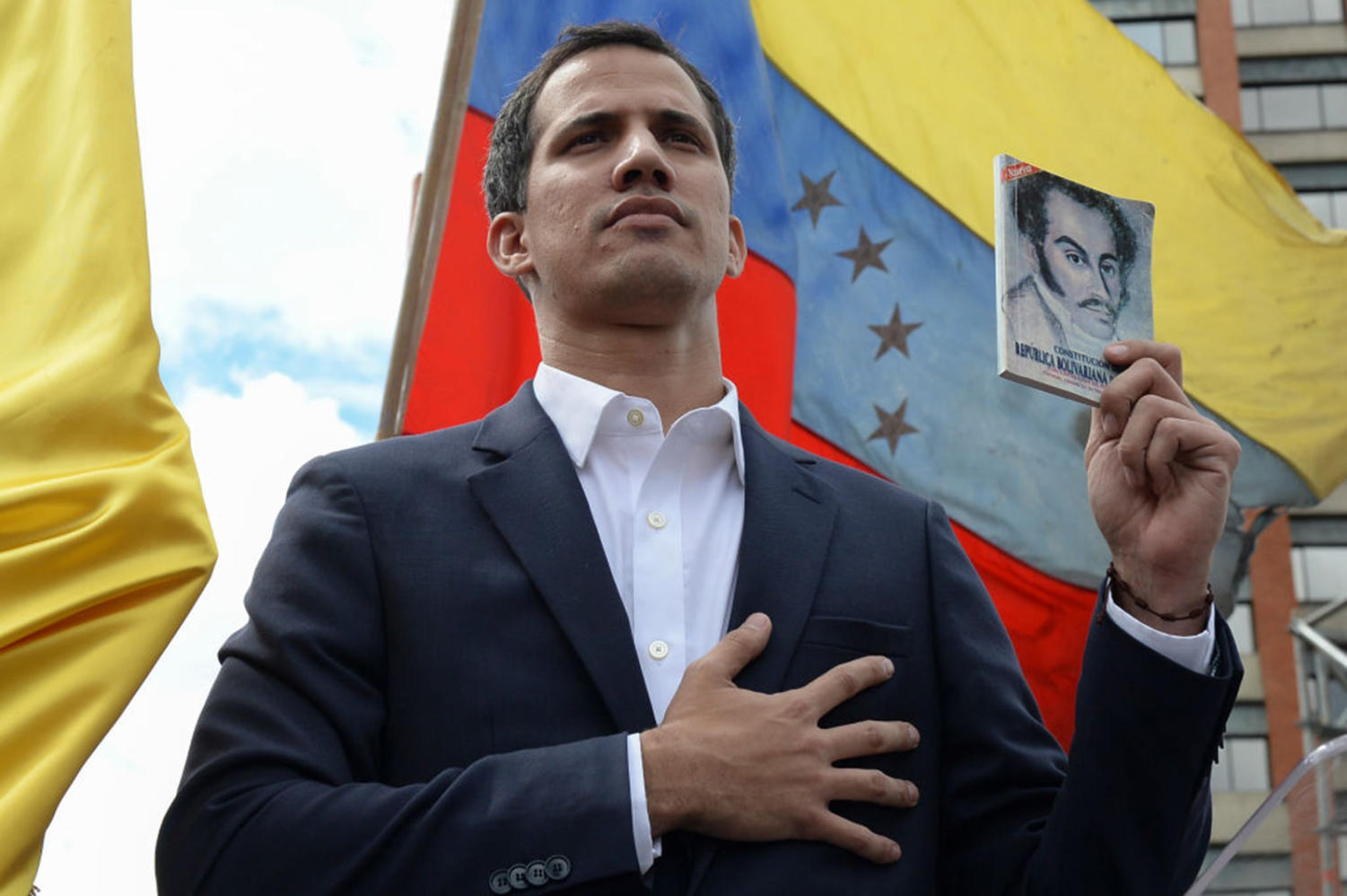 Venezuela's National Assembly head Juan Guaido declares himself the country's