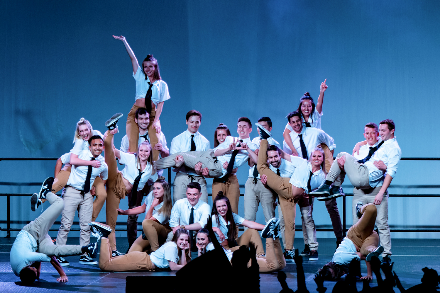 """Kappa Delta, Phi Kappa Theta and FIJI's first-place """"The Office"""" performance at Friday's """"Greek Sing."""""""