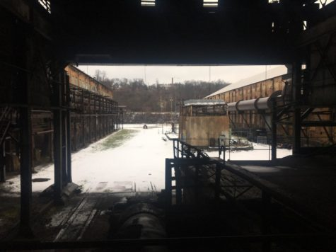 William Sharkey worked at Carrie Furnace, pictured here, before the steel industry collapsed in Western Pennsylvania.