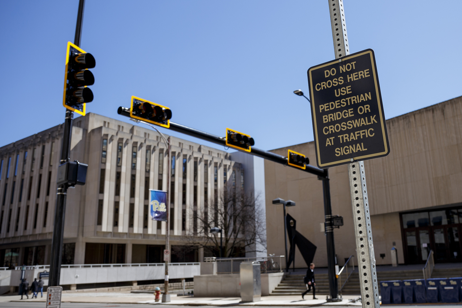 The crosswalk created on Forbes Ave. outside of David Lawrence Hall is expected to be fully operational by the end of the week, according to Pitt Police.