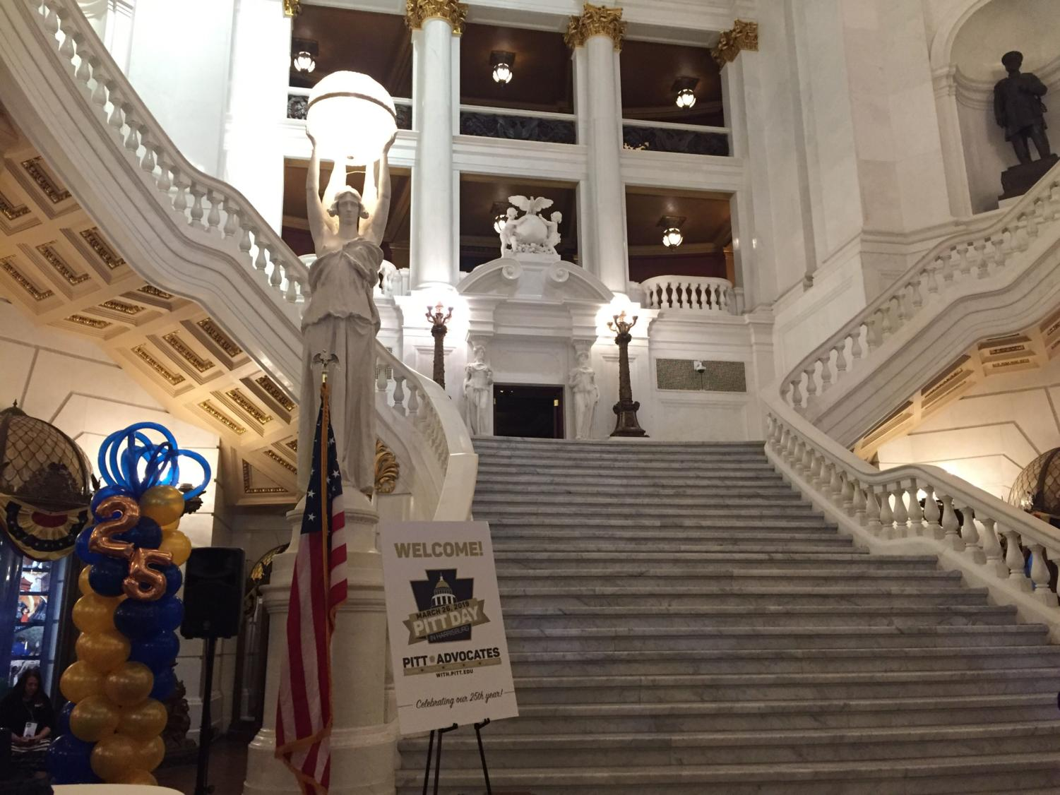 Students who attended Pitt Day in Harrisburg were treated to tours of the capitol, sit-down conversations with elected officials and a career-advice panel with Pitt alumni who work in the state government.