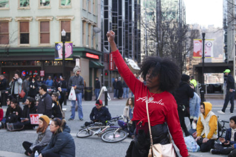 Downtown protests against Rosfeld verdict focus on change, solidarity