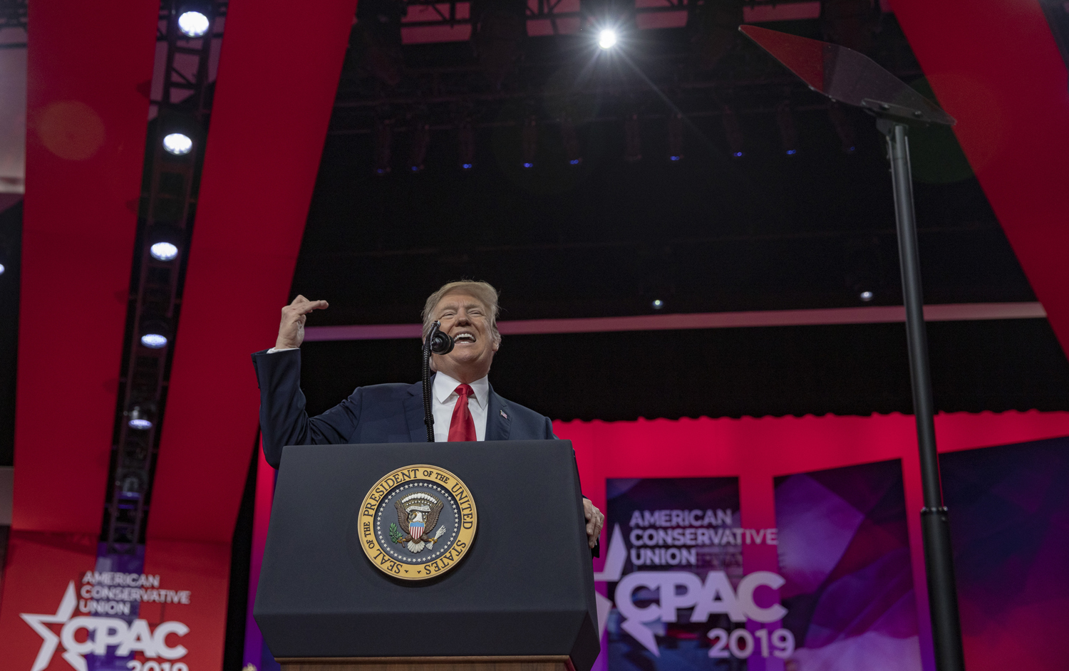U.S. President Donald Trump speaks during Conservative Political Action Conference 2019 on March 2 in National Harbor, Maryland. The American Conservative Union hosts the annual CPAC to discuss conservative agendas.