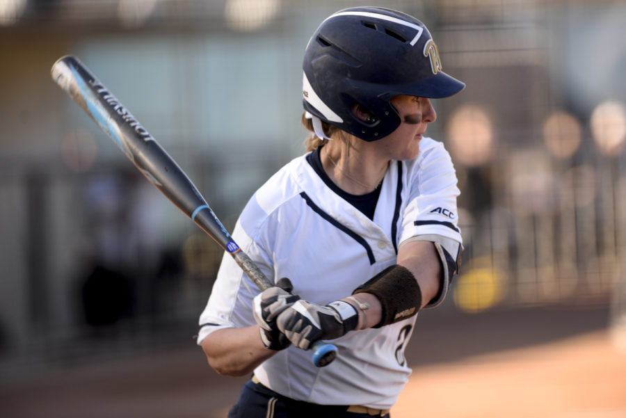 Senior infielder Alexis Solak scored Pitt's first run against Penn State on Wednesday, which Pitt lost 8-3. Yesterday's loss marks five straight for Pitt.