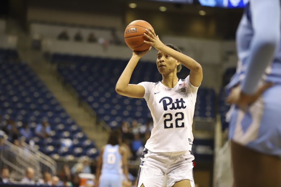 Sophomore Jaala Henry (22) scored her season high 3-point field goals on Sunday's game against Louisville. The Panthers lost their final home game 67-40.