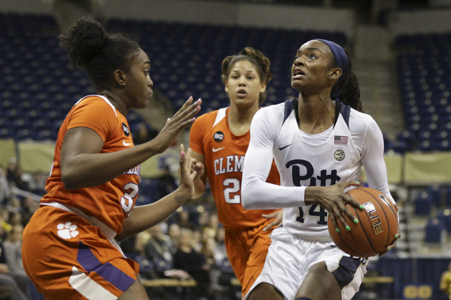 Senior forward Kauai Bradley (14) earned her career-high 17 points against Clemson on Jan. 20.