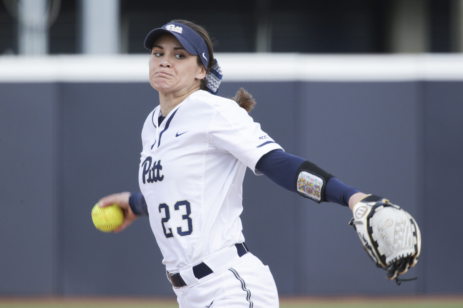 First-year Abby Edwards pitched against Ohio University during a March 19 game. This past weekend, the Panthers lost all three of their games against Virginia Tech.