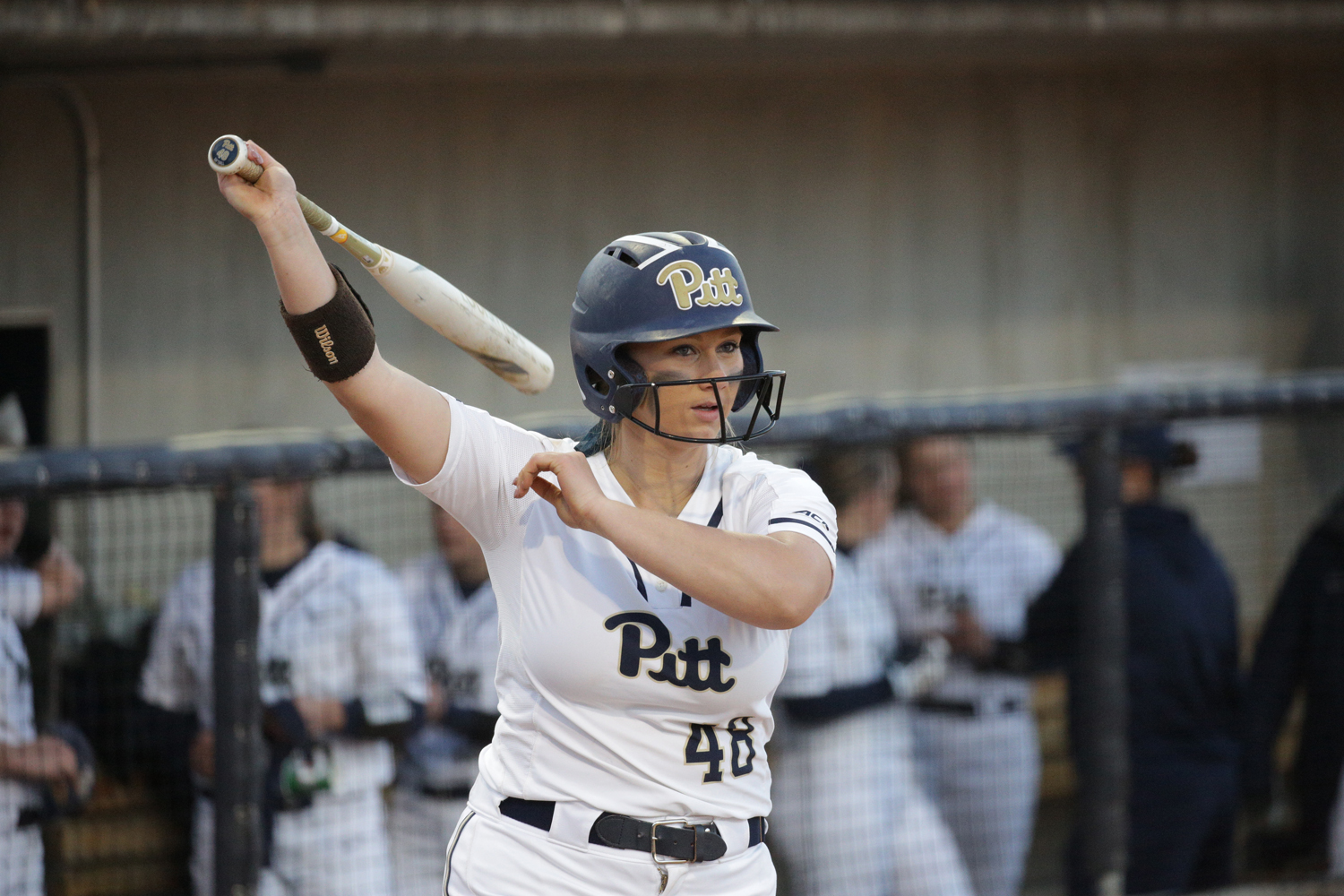 Senior first baseman Gabrielle Fredericks (pictured) and junior catcher Walker Barbee recorded the lone Panthers' RBIs on the day.