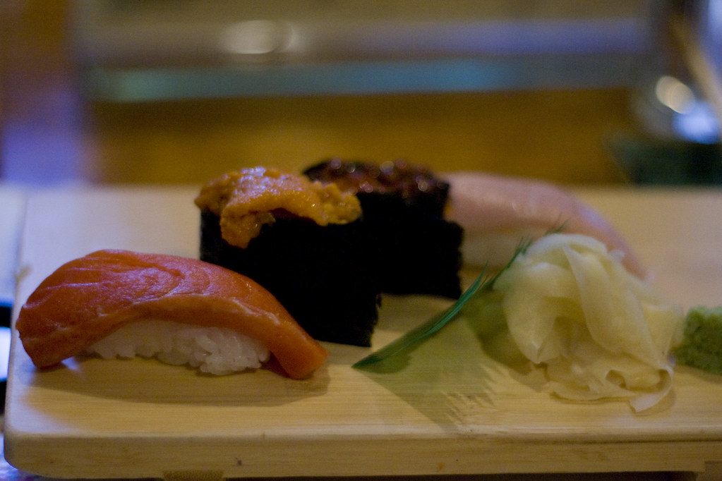 A plate of traditional sushi is served at Chaya — a Japanese restaurant in Squirrel Hill.
