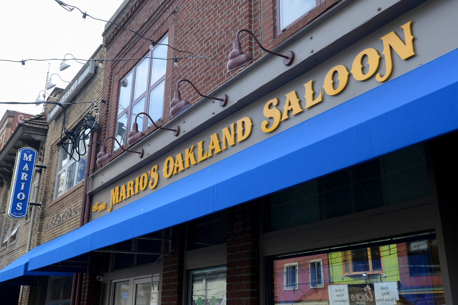 Exterior of the unopened Mario's Saloon's Oakland location on Oakland Avenue.