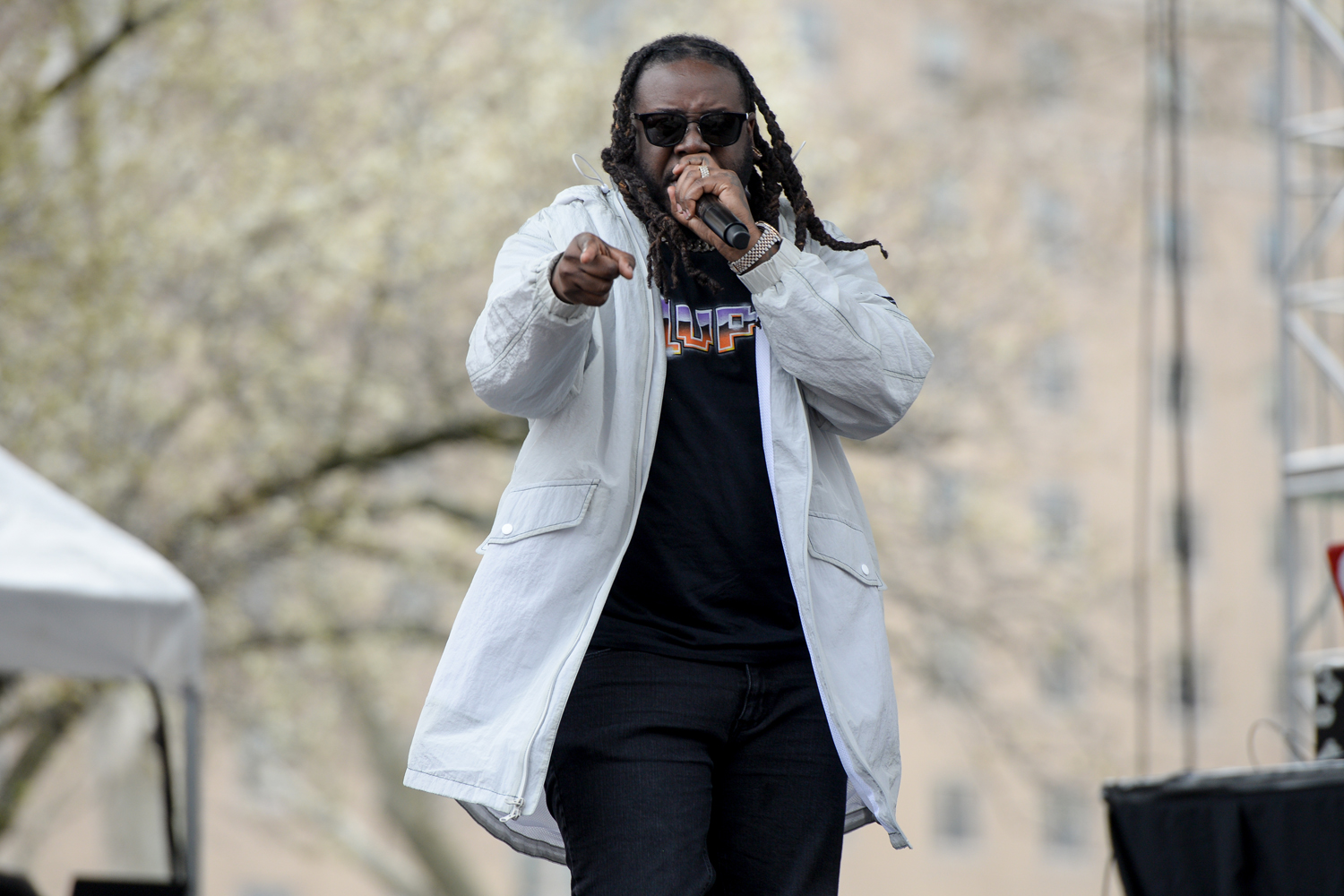 Rapper T-Pain performs at Pitt Program Council's Bigelow Bash on Sunday.